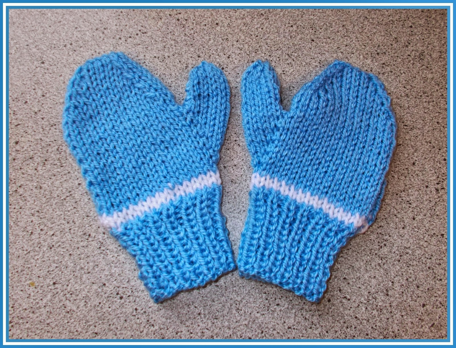Knitting Pattern For Mittens Using Two Needles : mariannas lazy daisy days: Easy 2-needle toddler and child mittens - boy...
