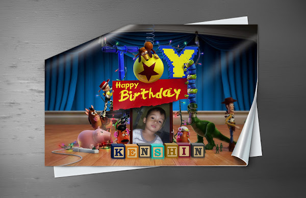 Toy Story 3 Birthday PSD Template