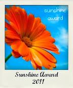 Mais um Selinho,....Sunshine Award 2011!! Oferecido pela Andreia no dia 09.Maio.11'