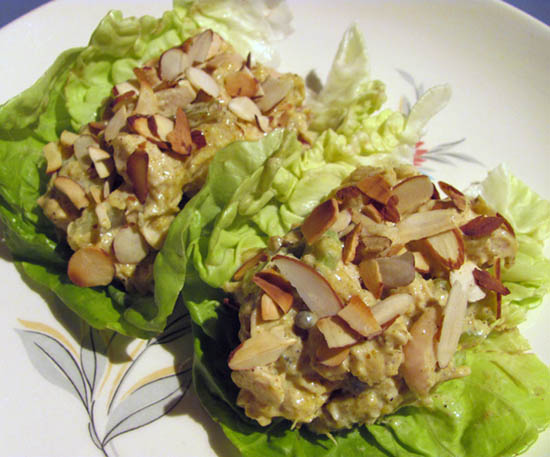 Mango Chicken Salad Lettuce Wraps |Full and Content