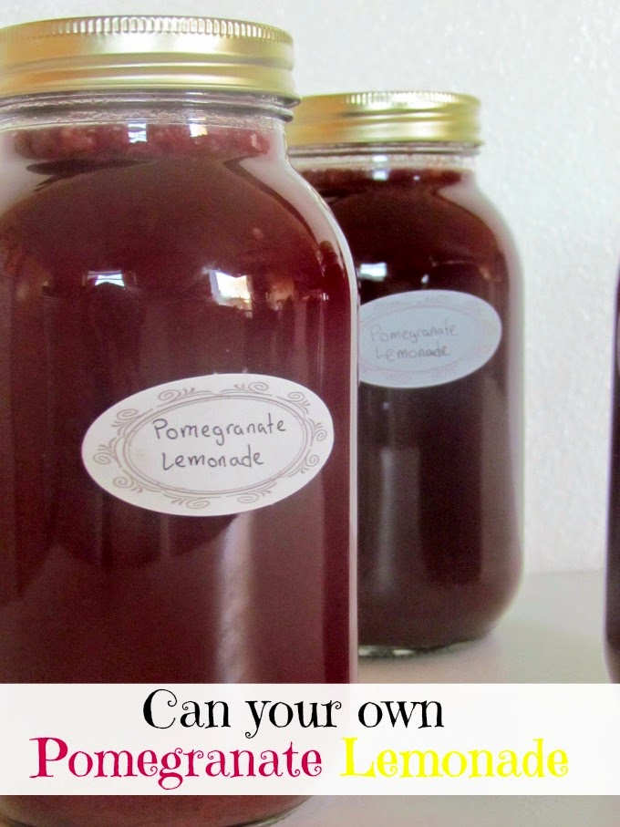 Can your own Pomegranate Lemonade Recipe