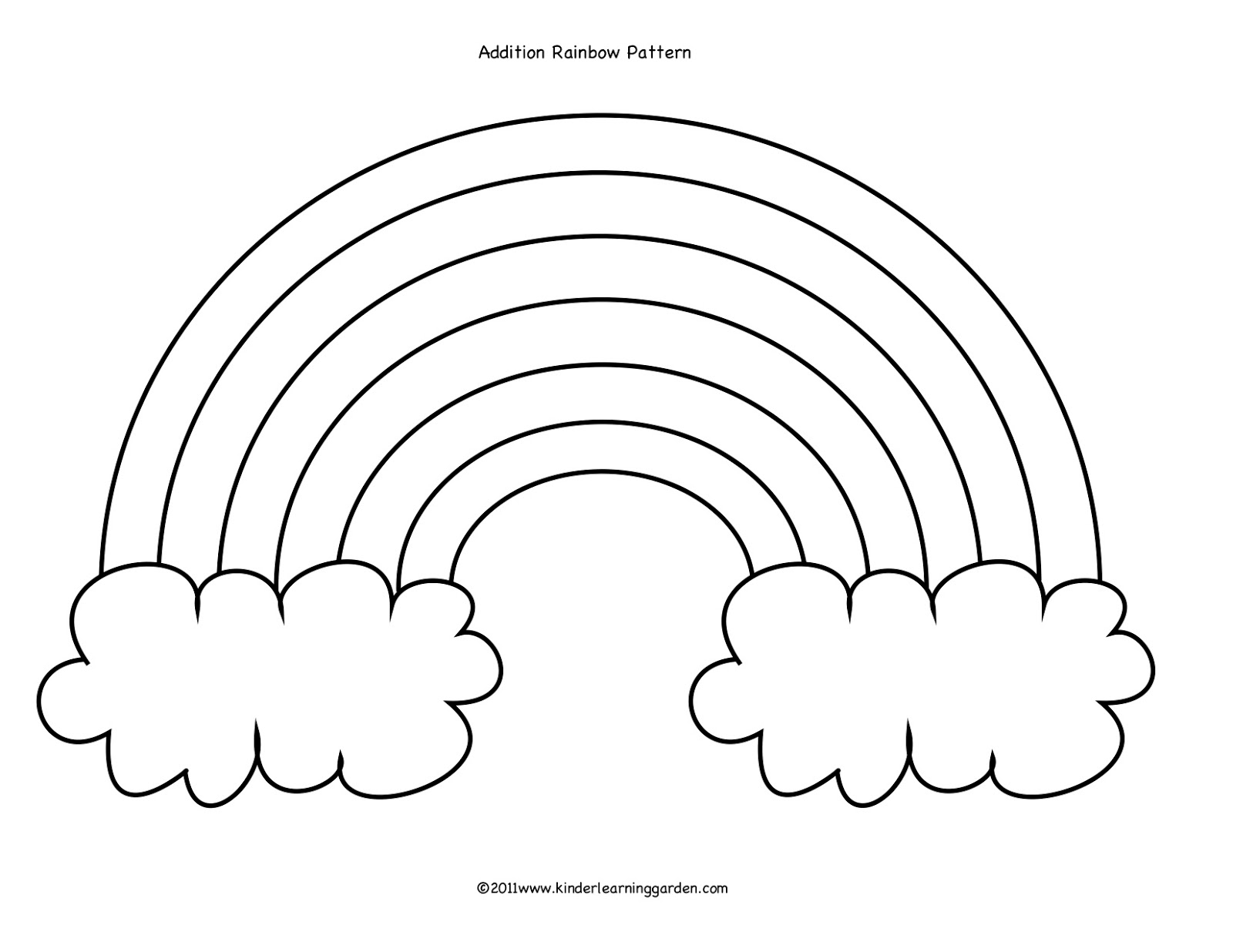 Kinder Learning Garden: Rainbow Cloud Addition