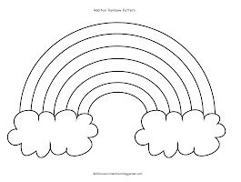 Black And White Rainbow Coloring Page