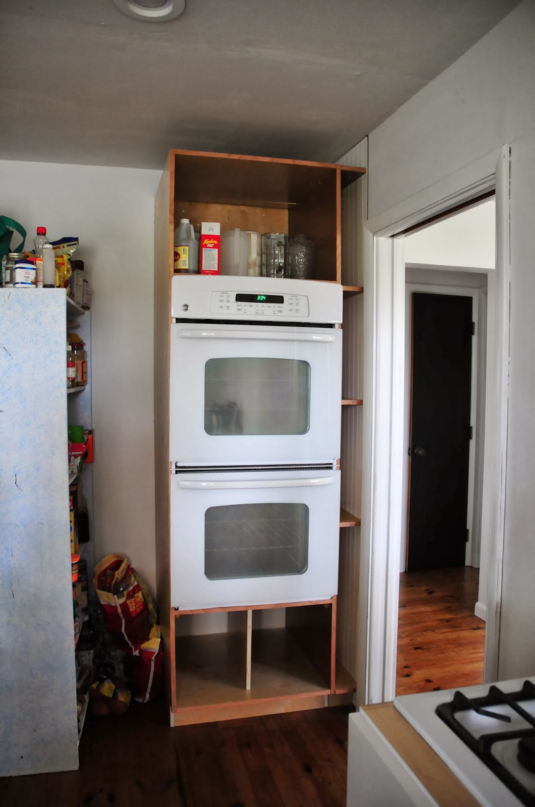 Good Our DIY Double Oven Cabinet