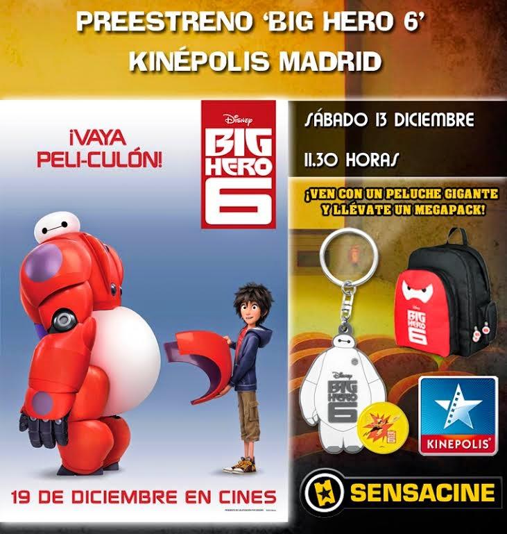 Preestreno Big Hero 6 en Madrid