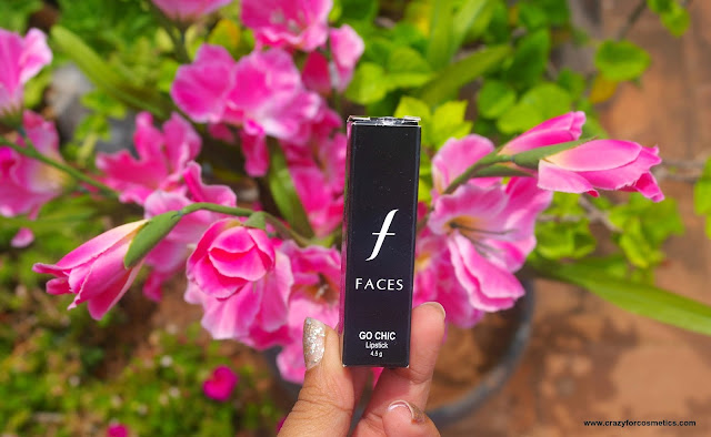 faces canada go chic lipstick review