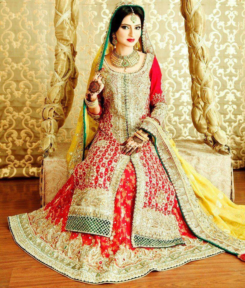 Bridal pakistani dresses suits mehndi designs pic for Pakistani dresses for wedding parties