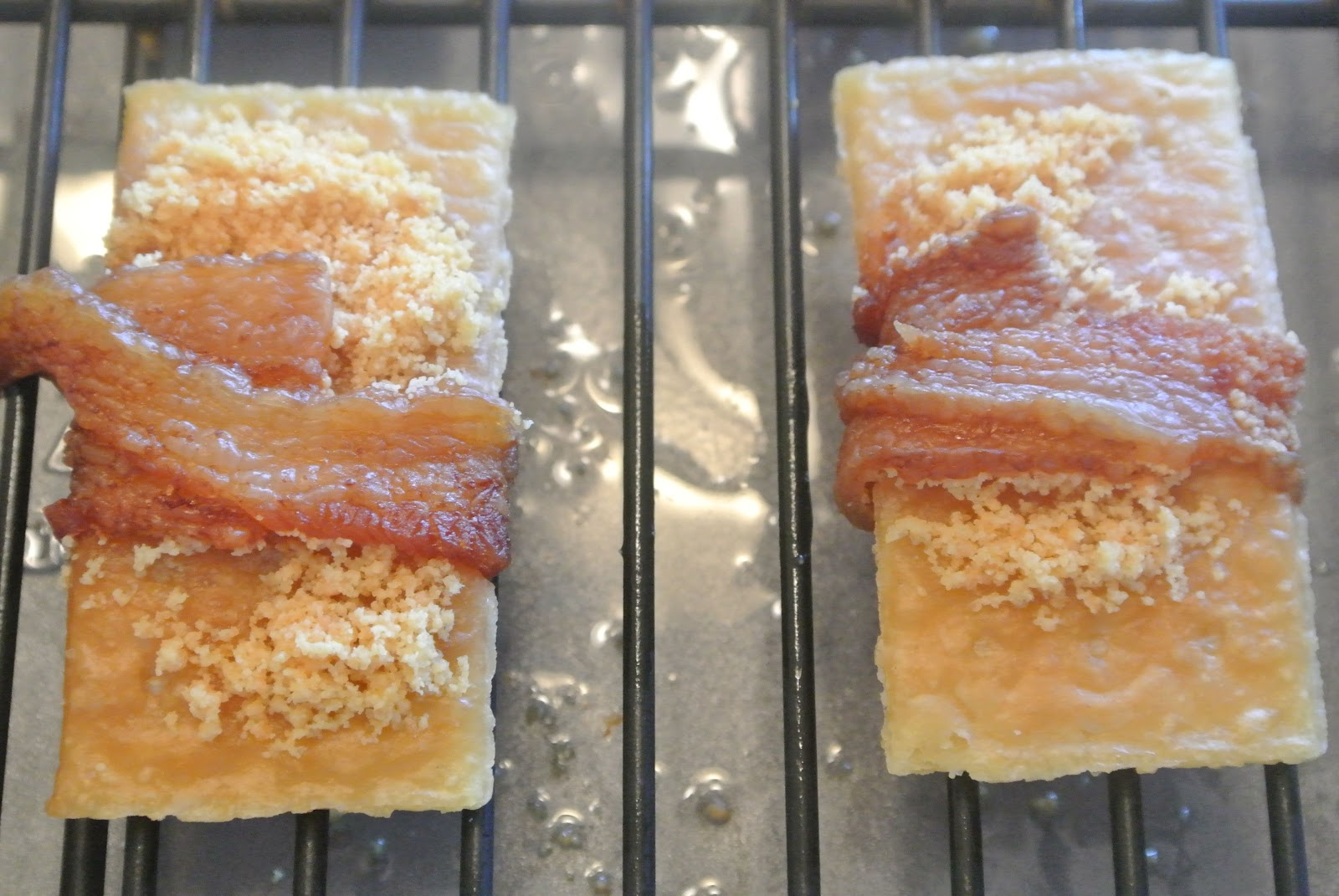 Parmesan Bacon Crackers Recipe — Dishmaps