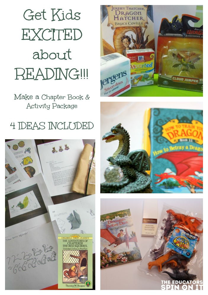 Get kids excited about reading by building a chapter book and activity package!