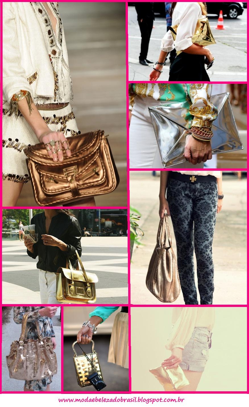 como usar bolsa dourada
