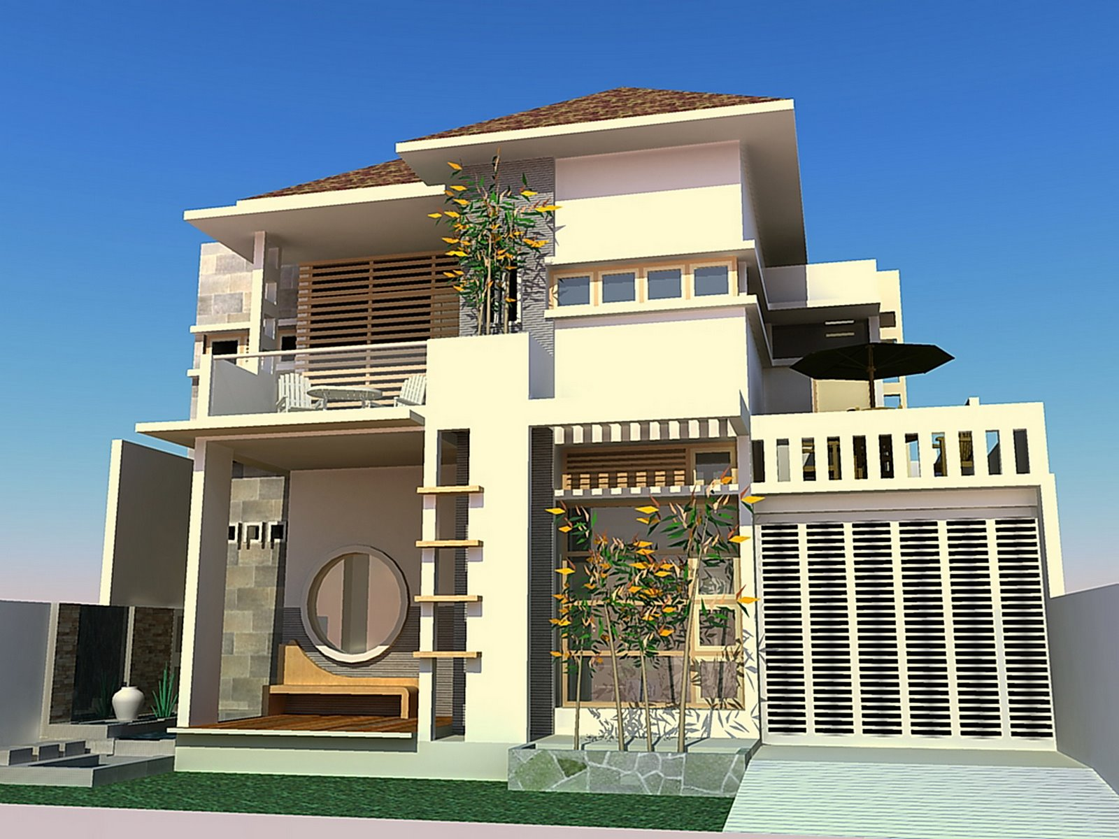 New home designs latest modern homes front designs florida for Latest house designs