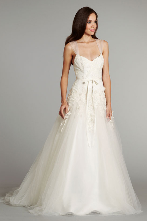 Wedding Dress With Tulle Straps