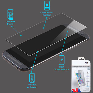 Premium Shatterproof Tempered Glass Screen Protector for HTC One M8