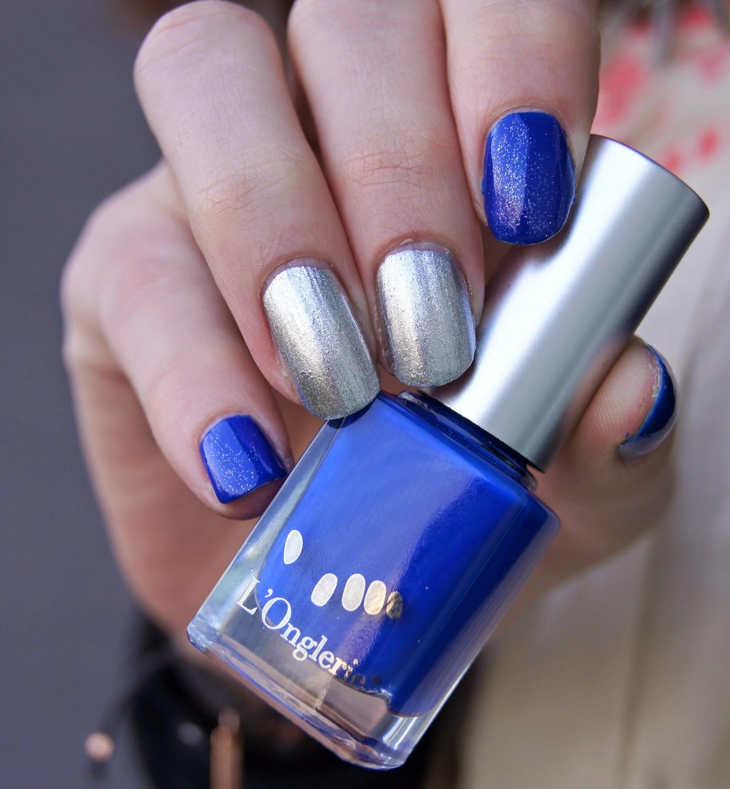 onglerie bleu lisa