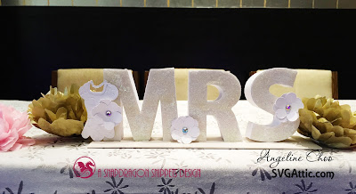 SVG Attic: Mr & Mrs box letters with Angeline #svgattic #scrappyscrappy #wedding #boxletters #mrandmrs