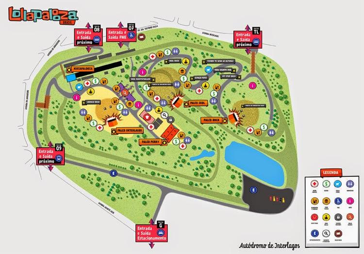 Mapa ainda não atualizado do evento que acontecerá em 2015