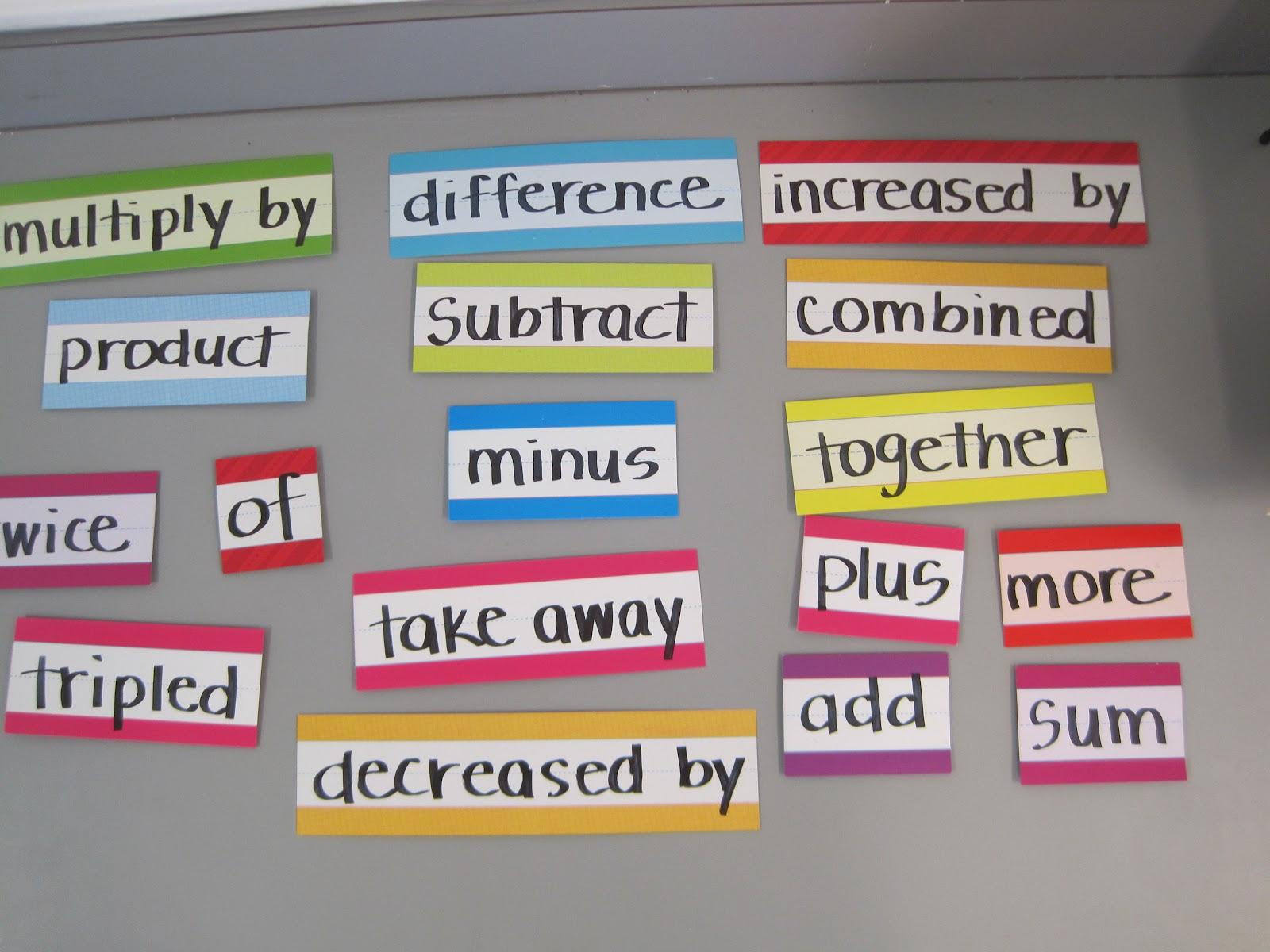 Math by Tori: Words into Math
