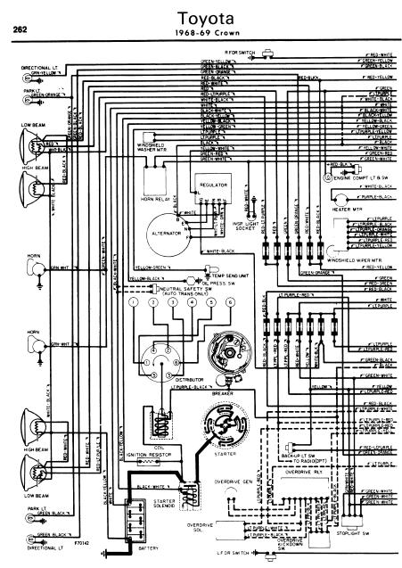toyota crown 1968 69 wiring diagrams online manual sharing rh manualtransformer blogspot com Toyota Electrical Wiring Diagram wiring diagram toyota crown 2jz-ge