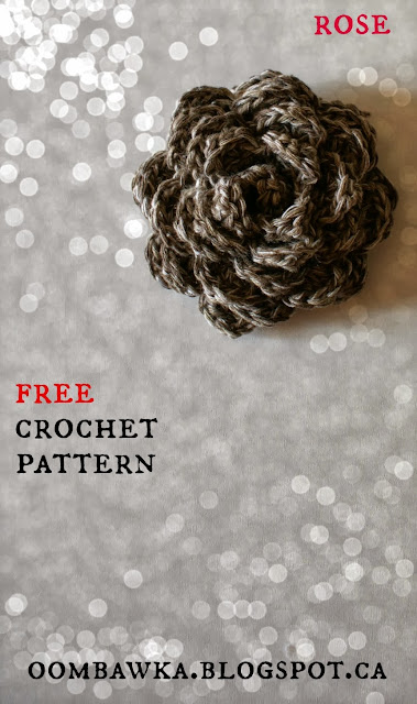 Free Crochet Flower Embellishment - Oombawka Design