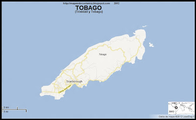 Mapa de TOBAGO, TRINIDAD Y TOBAGO,  (google maps)