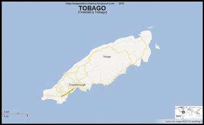 Mapa de TOBAGO, TRINIDAD Y TOBAGO,  (google maps)