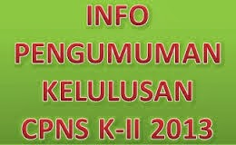 Pengumuman Hasil Test CPNS K2 2013 Seluruh Indonesia
