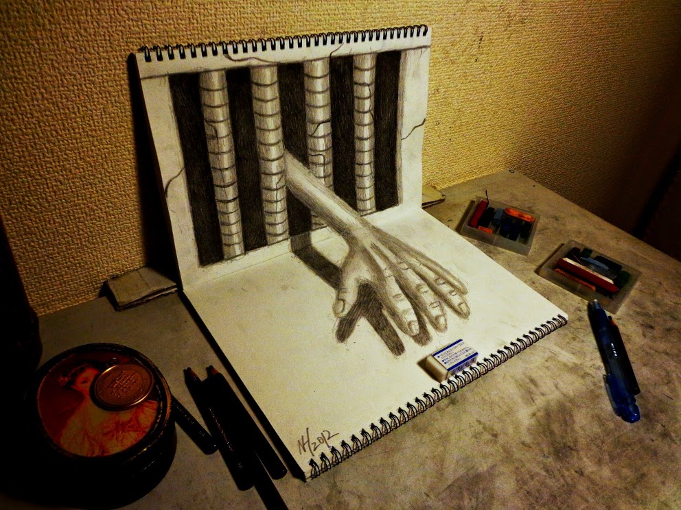 08-Nagai-Hideyuki-永井-秀幸-Hide-3D-Pencil-Art-www-designstack-co