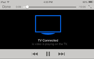 Watch videos from your iPad on the television.  Display videos from your iPad on your TV set.  Connect your iPad to the TV using a 5-1 connector.  See your iPad videos on the big screen using a 5-1 connector.