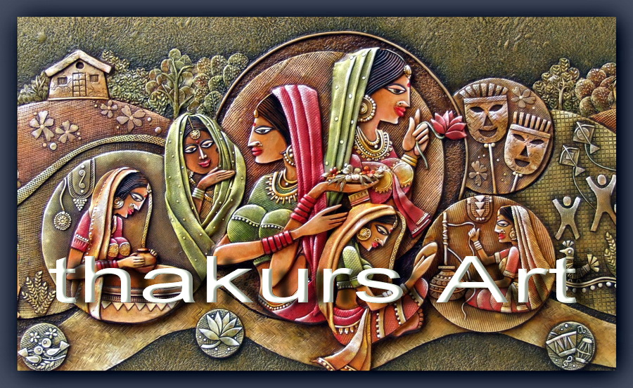 Thakur 39 s art indian culture mural for 3d mural art in india