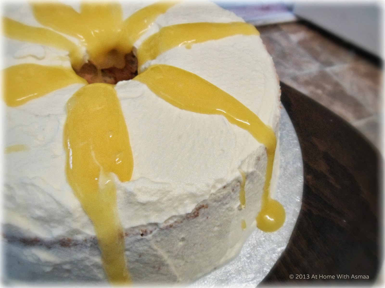 At Home With Asmaa: 'Angel' Food Cake With Lemon Curd #GBBO
