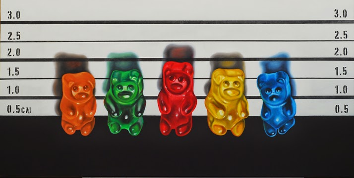 gummy near art, the usual suspects, oil paining jeanne vadeboncoeur
