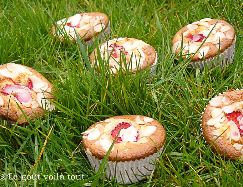 Muffins aux fraises et amandes