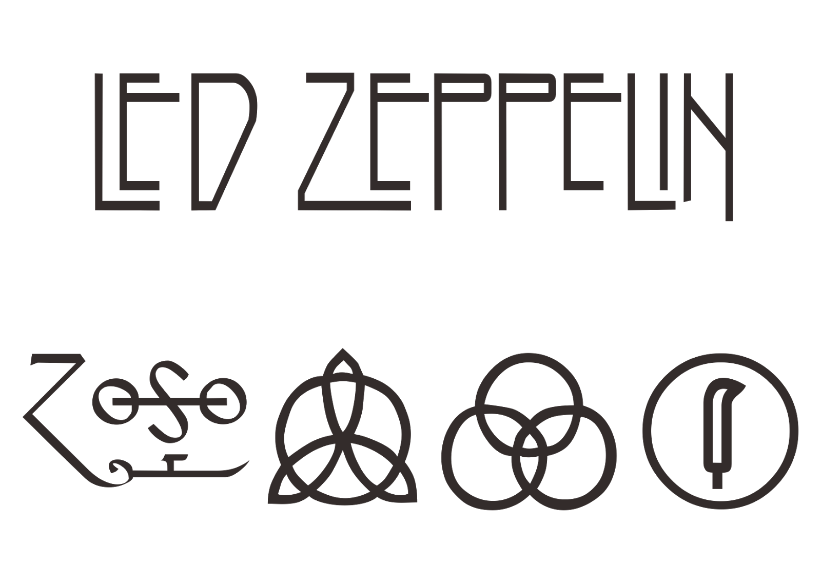 led zeppelin logo vector rock band format cdr ai eps