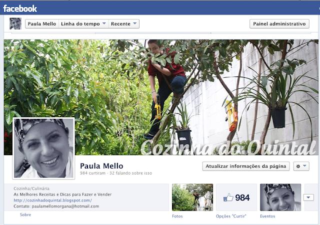 Fanpage Cozinha do Quintal de Paula Mello