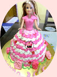 Barbie doll cake