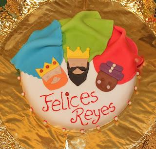 tarta fondant reyes magos,