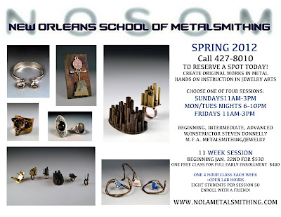 New Orleans School of Metalsmithing Spring 2012 registration