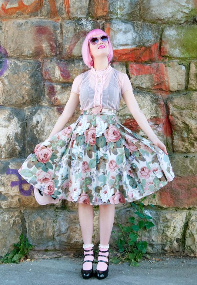 Lena Hoschek, SS11, fulll circle skirt