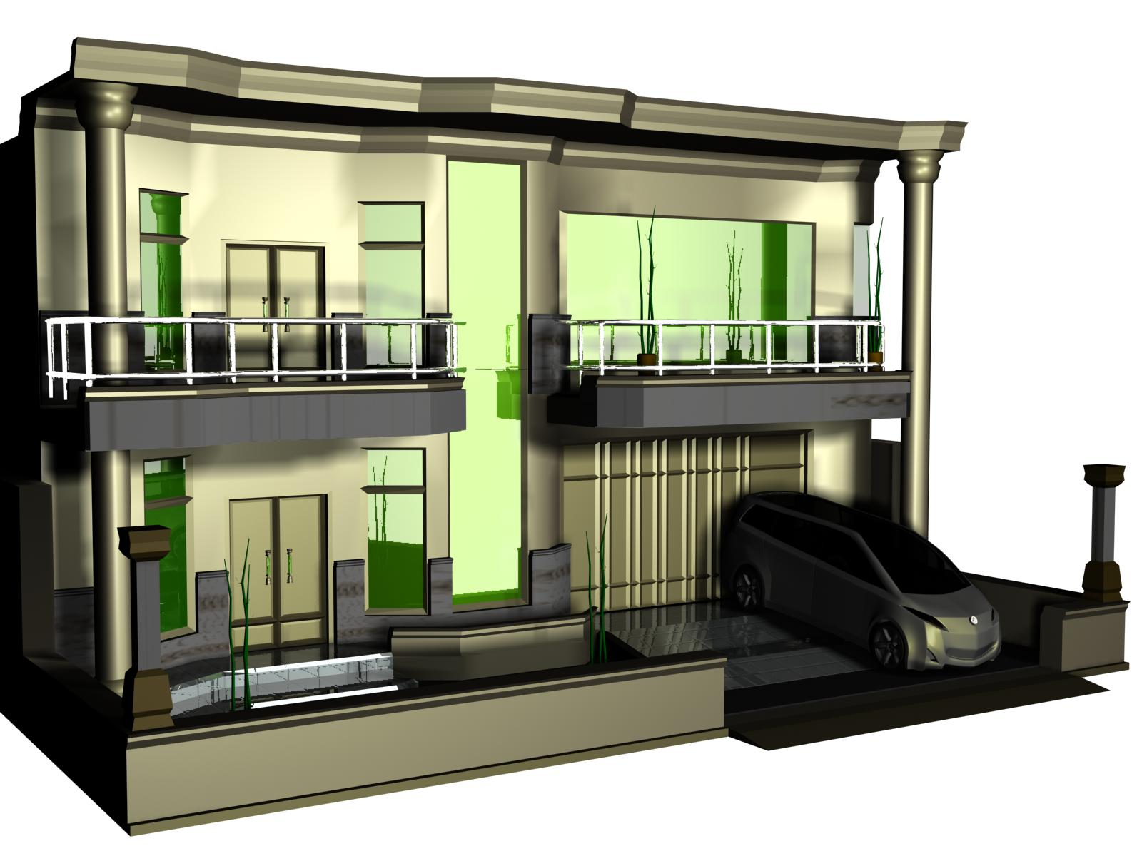 rumah gaya eropa european style home rancangan rumah