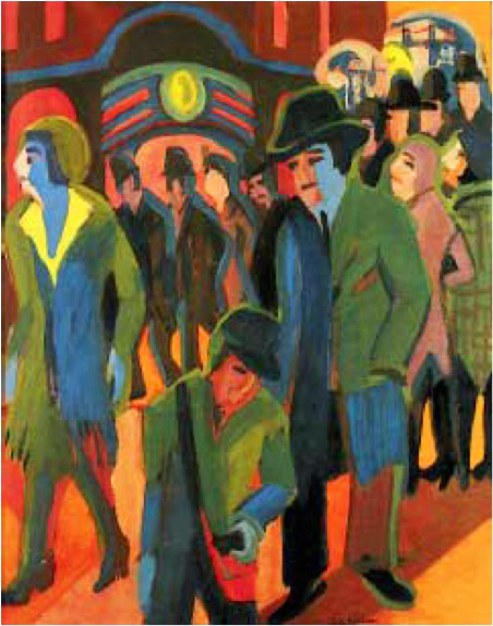Het modernisme expressionisme - Koude en warme kleur ...