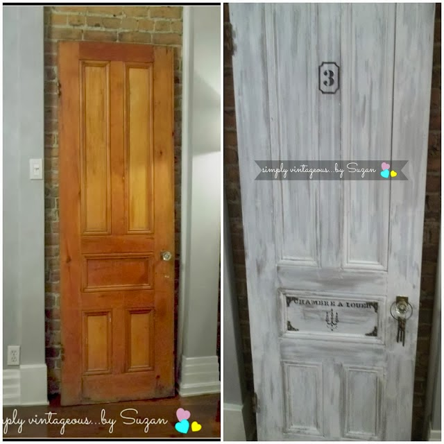 before and after vintage door