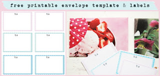 free printable envelope template and labels
