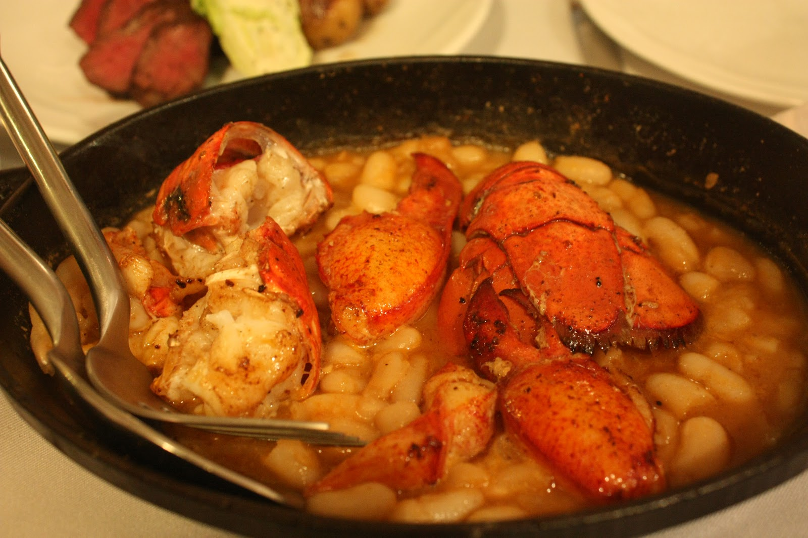 lobster cassoulet lots of beans it s carb again and