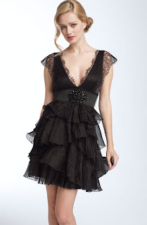 Beautiful Ruffle Black Party Dress