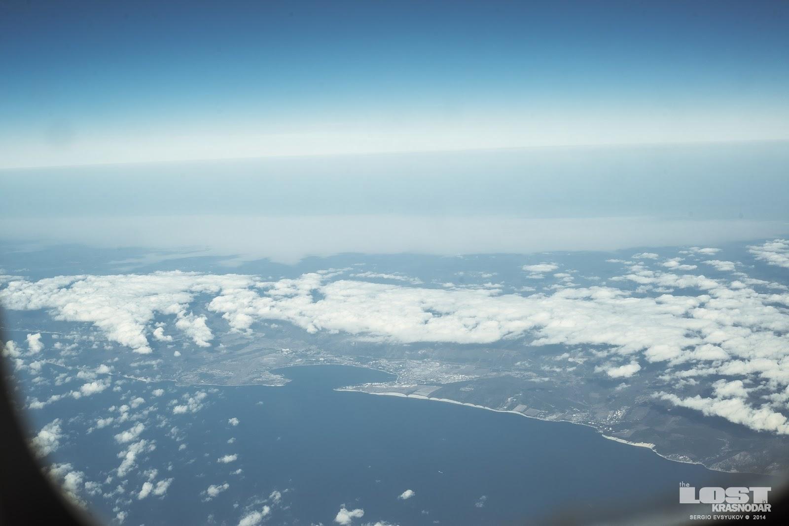 Черное море с самолета