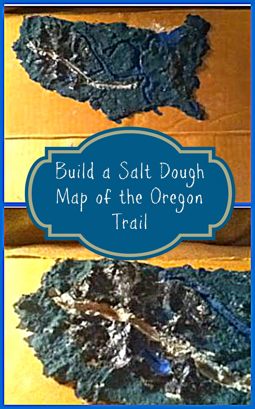 Building A Salt Dough Map Of The Oregon Trail As Part Of Our Study On The American Westward Expansion