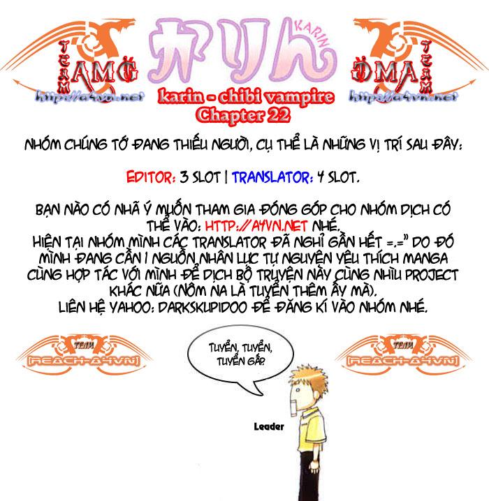 Karin - Chibi Vampire Chap 22 - Next Chap 23