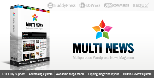 Free Download Multinews V2.3.4 Multi-purpose Wordpress News,Magazine Theme