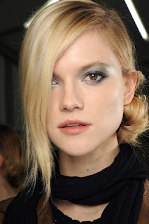 Kasia Struss Chanel Fall 2011 backstage makeup by Peter Philips