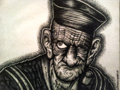 Black and White Realistic Popeye
